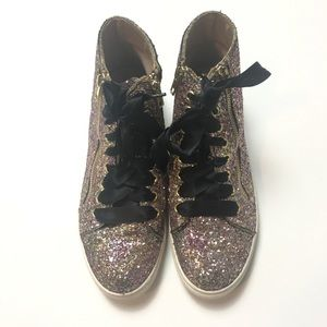 d0b41444421 Women s Steve Madden Glitter Sneakers on Poshmark